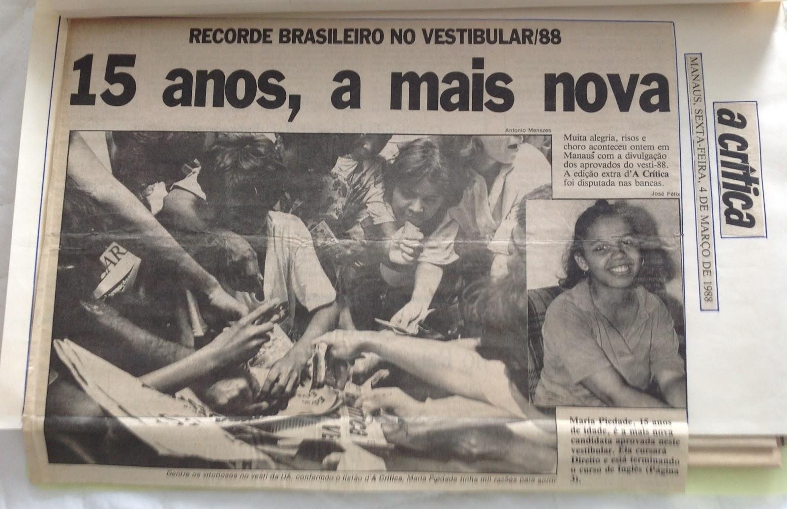 Maria não teve Piedade dos concorrentes - A Crítica 04/03/1988